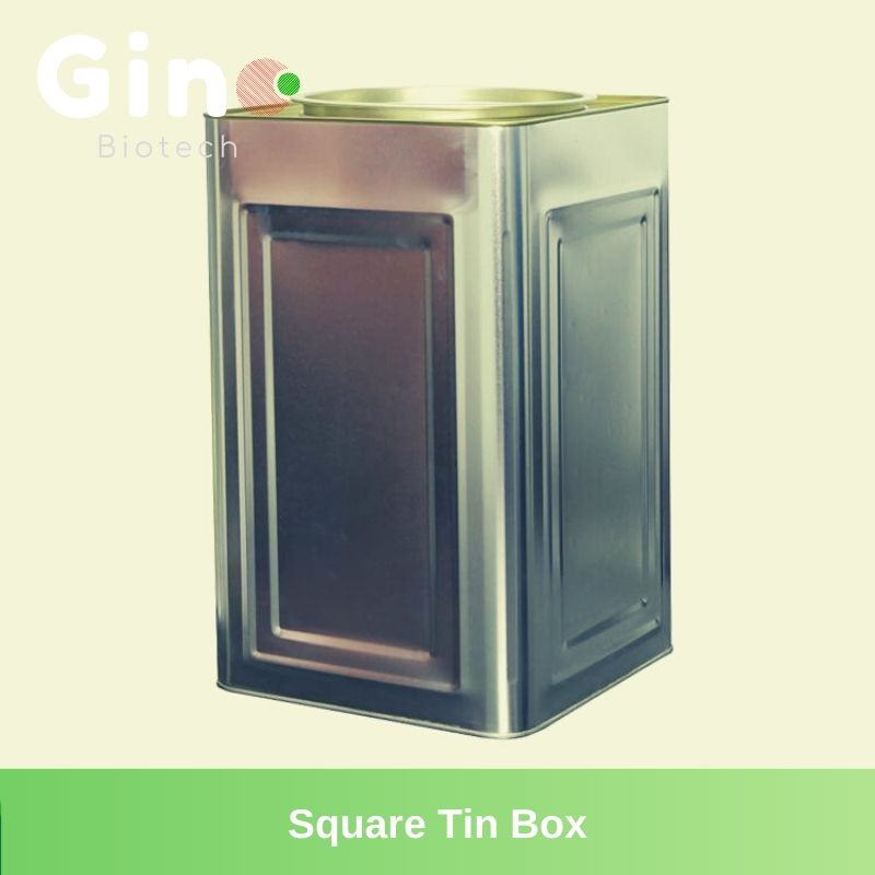 Square Tin Box_Gino Biotech_Hydrocolloid Suppliers