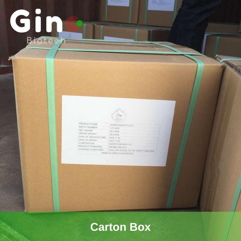 Carton Box_Gino Biotech_Hydrocolloid Suppliers