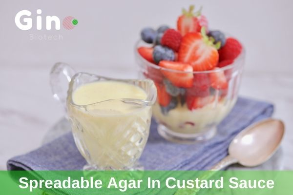 instant agar, spreadable agar in custard creams