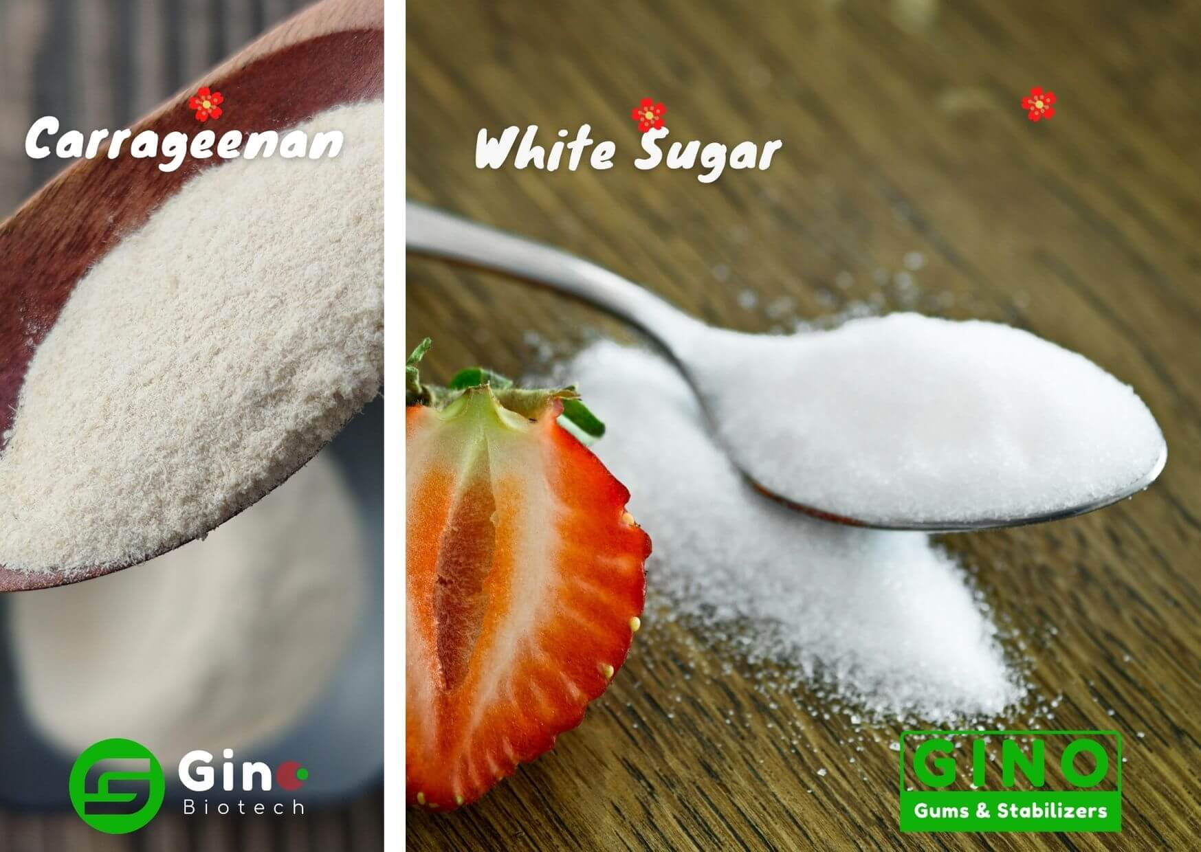 premix carrageenan and white granulated sugar