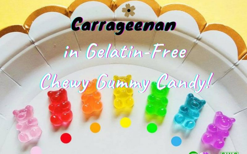 Carrageenan in Gelatin-Free Chewy Gummy Candy