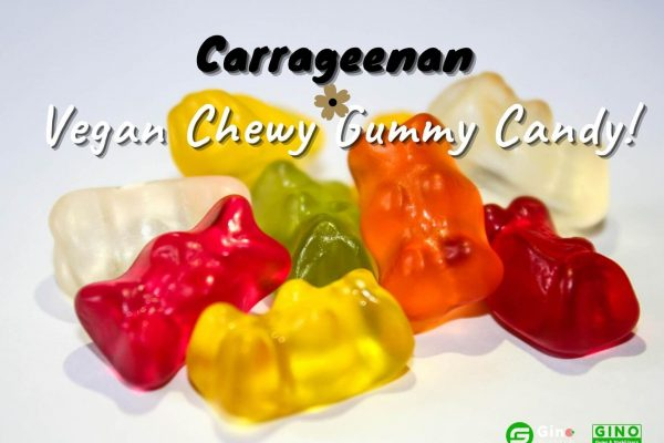 Carrageenan in Vegan Chewy Gummy Candy